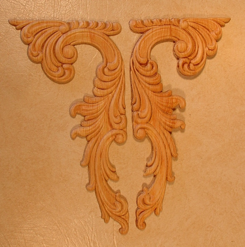 Appliques Embossed Carvings Onlays 250665