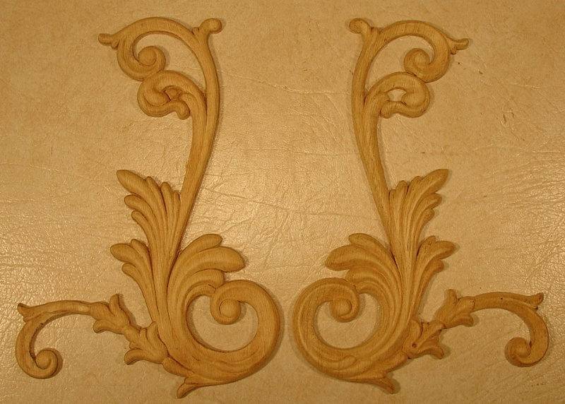 Appliques Embossed Carvings lays